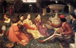 john william waterhouse a tale from the decameron painting