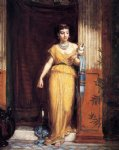 la fileuse by john william waterhouse painting