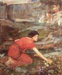 john william waterhouse maidens picking flowers by a stream study painting 80615