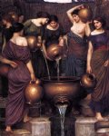 the danaides by john william waterhouse painting