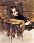the easy chair by john william waterhouse painting