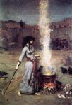 the magic circle by john william waterhouse painting