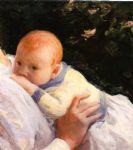 theodore lambert decamp as an infant by joseph decamp painting