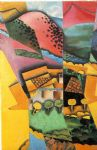 landscape paintings - landscape at ceret by juan gris