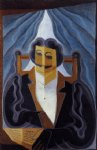 portrait paintings - portrait of a man by juan gris