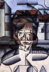 portrait paintings - portrait of germaine raynal by juan gris