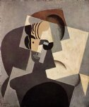 portrait paintings - portrait of josette by juan gris
