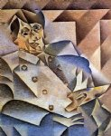 portrait paintings - portrait of picasso by juan gris