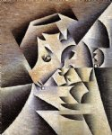 portrait paintings - portrait of the artist s mother by juan gris