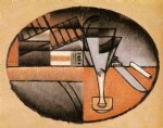 the packet of cigars by juan gris painting