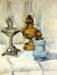 three lamps by juan gris painting