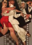 juarez machado paintings - tango a robe rouge by juarez machado