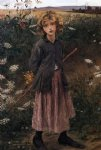 flower paintings - roadside flowers by jules bastien lepage
