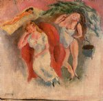 jules pascin composition with three women painting