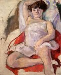 jules pascin dancer at the moulin rouge painting