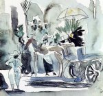 jules pascin horse and carriage painting
