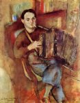 portrait paintings - portrait of pierre macorlan by jules pascin