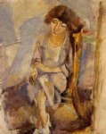 jules pascin seated portrait of hermine david painting 29723