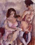 jules pascin two young women painting