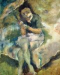 woman with a parasol by jules pascin painting
