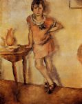 young girl in a dress by jules pascin painting