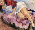 young girl reclining by jules pascin painting