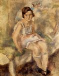 young marcelle by jules pascin painting