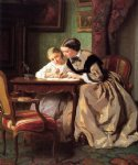 the lesson by jules trayer painting