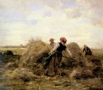 julien dupre the harvesters painting