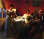 a supper party by julius leblanc stewart painting