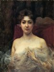 julius leblanc stewart in the boudoir painting