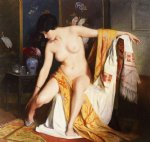 julius leblanc stewart nude in an interior painting