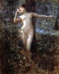 julius leblanc stewart nude in the forest painting