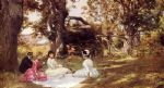 julius leblanc stewart picnic under the trees painting