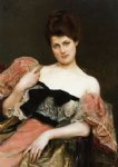 julius leblanc stewart portrait of a lady painting