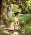 sunlight by julius leblanc stewart painting