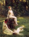 julius leblanc stewart the glade painting