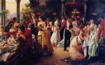 julius leblanc stewart the hunt supper painting