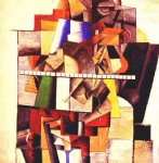 portrait paintings - portrait of matiushin by kasimir malevich