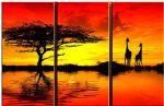 landscape african sunset ii oil painting