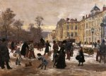 a winter s day by leon joseph voirin painting