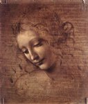 female head by leonardo da vinci painting
