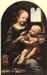 leonardo da vinci madonna with flower painting 29540