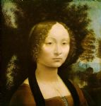 portrait paintings - portrait of ginevra benci by leonardo da vinci