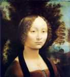 portrait paintings - portrait of ginevra de benci by leonardo da vinci