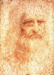portrait paintings - self portrait by leonardo da vinci