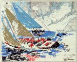 america s cup by leroy neiman painting