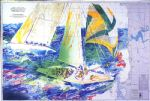america s cup australia by leroy neiman painting