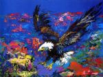 american bald eagle by leroy neiman painting