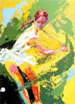 backhand chris evert by leroy neiman painting